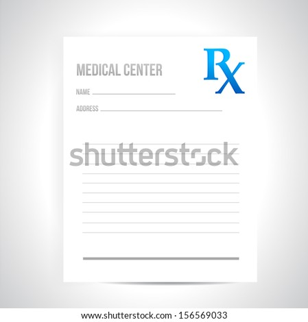 medical prescription illustration design over a white background - stock photo