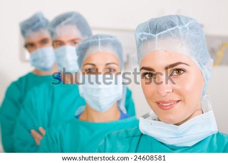 medical professional team - stock photo