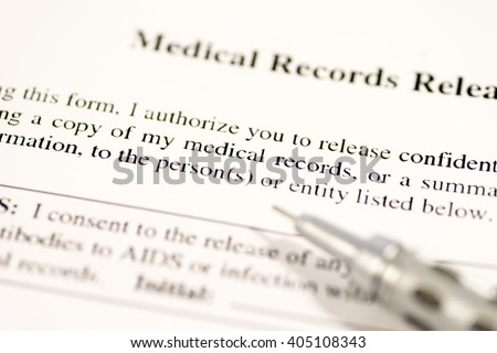 Medical record release form - stock photo