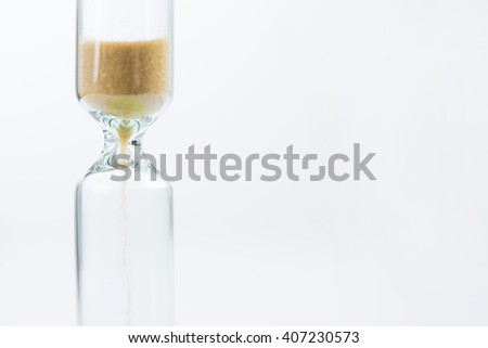 Medical sandglass. Isolated. Concept of time. - stock photo