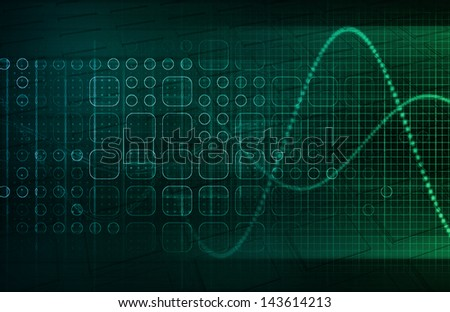 Medical Science Themed Background as a Concept - stock photo