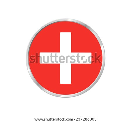 Medical sign in glossy button  - stock photo