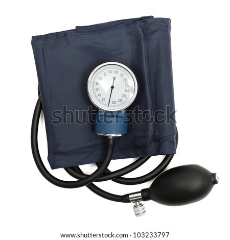 Medical sphygmomanometer - stock photo