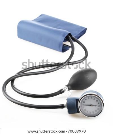 Medical sphygmomanometer,isolated on white. - stock photo