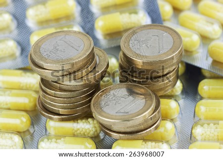 medication copayment - stock photo