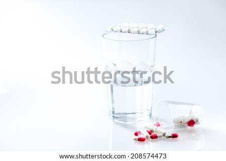medications on a white background - stock photo