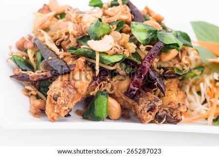 Medicinal Fried Chicken/Thailand Food.,Medicinal Fried Chicken - stock photo