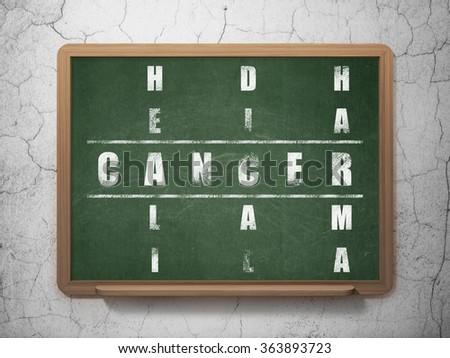 Medicine concept: Cancer in Crossword Puzzle - stock photo