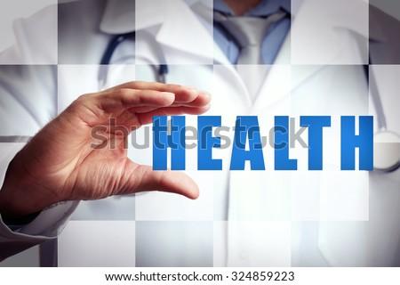 Medicine doctor .Modern medical technologies concept - stock photo
