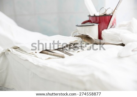 medicine equipment real opertion process at hospital - stock photo