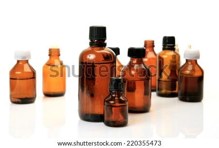 medicine to treat the disease - stock photo