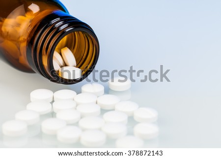 medicines and drugs  on  table - stock photo