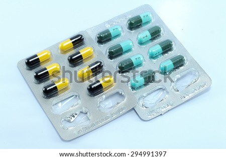 Medicines applied to the sick. - stock photo