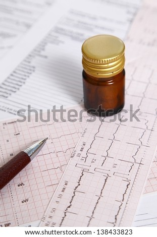 Medicines to control heart disease - stock photo