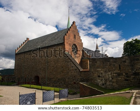 Medieval Akershus castle in Oslo, Norway - stock photo