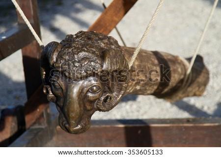 medieval battering ram - stock photo