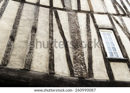 Medieval building detail in Le Marais, Paris, France - stock photo