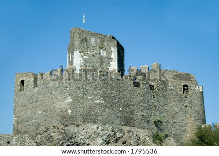 Medieval castle at Holloko, Hungary, a UNESCO World Heritage Site. - stock photo