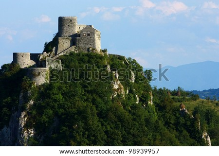 Medieval castle in Srebrenik, Bosnia. - stock photo
