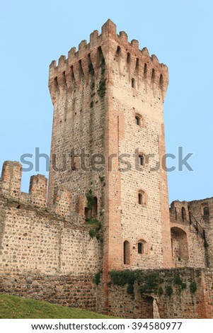 medieval castle of Este in the province of Padova, Italy - stock photo