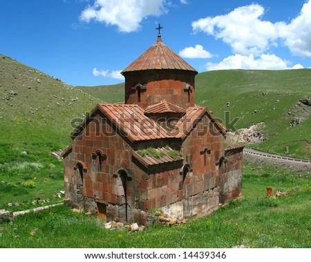 medieval church,armenia - stock photo