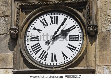 Medieval clock in Prague - stock photo