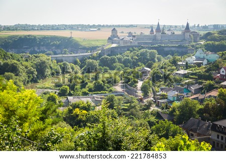 medieval fortress - stock photo