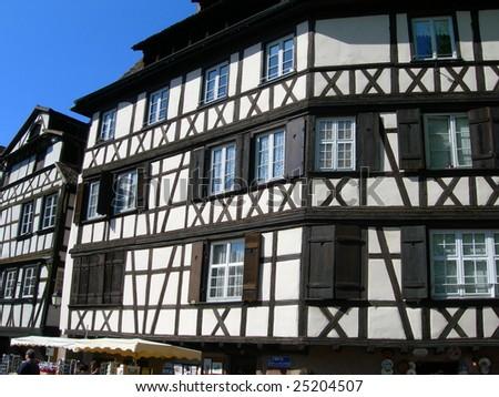 Medieval house in Strasbourg France - stock photo