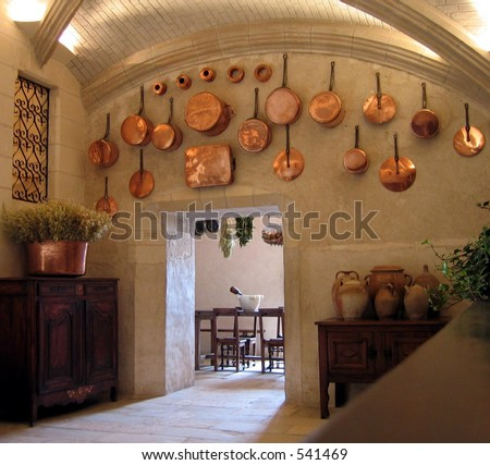 Medieval kitchen - stock photo