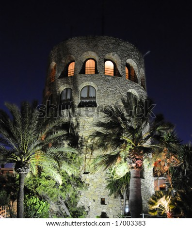 Medieval tower in Marbella - stock photo