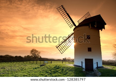 Medieval tower  windmill in Chapel Allerton, Somerset, England - stock photo