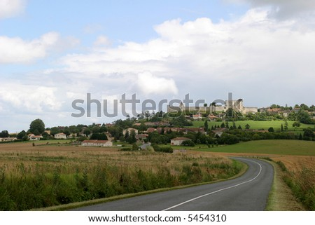 Medieval Village - Villebois-Lavalette, a fortified village in the French Charente province. - stock photo