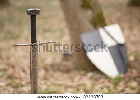 medieval weapon - stock photo