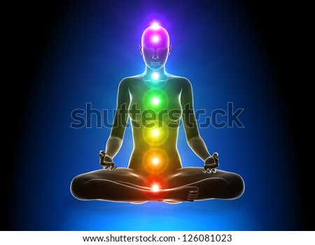 Meditation - Chakras - stock photo