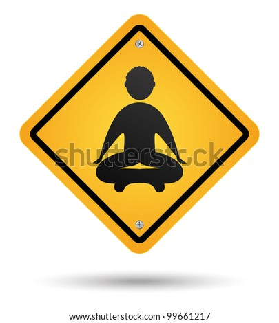 meditation road sign isolated - stock photo