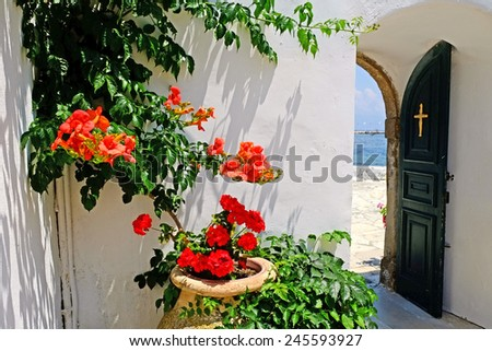 Mediterranean Church view - stock photo