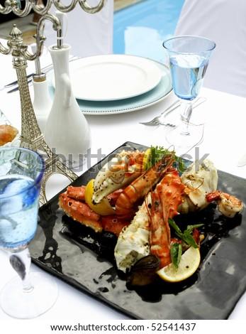 Mediterranean Food Style - stock photo