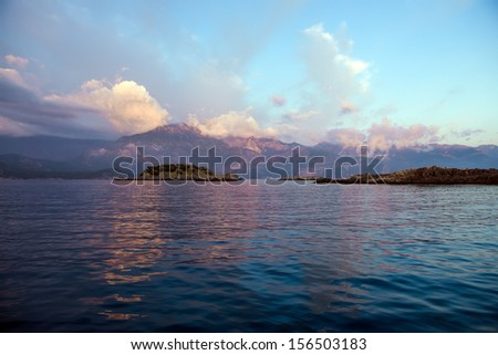 mediterranean, panoramic view - stock photo