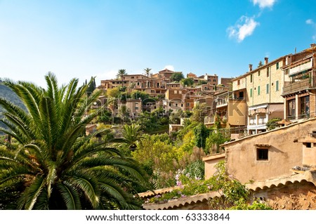 mediterranean village of Majorca island, Spain - stock photo