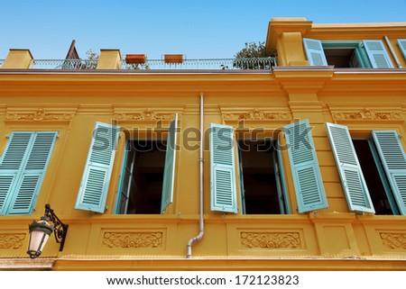 Mediterranean window. Urban scene. - stock photo