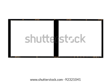 medium format film, isolated on white - stock photo