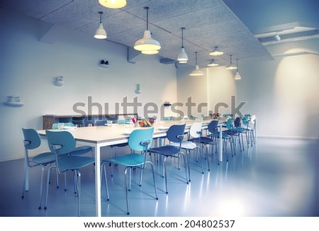 meeting aria in new designed office building for small business - stock photo