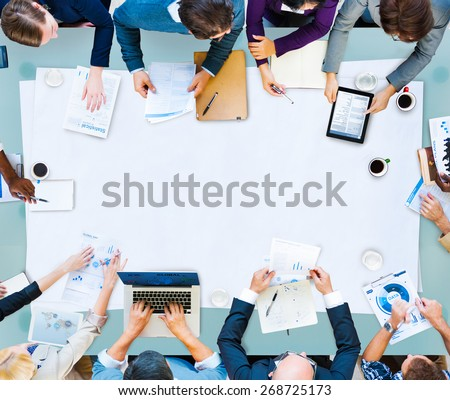 Meeting Brainstorming Teamwork Business Corporate Concept - stock photo