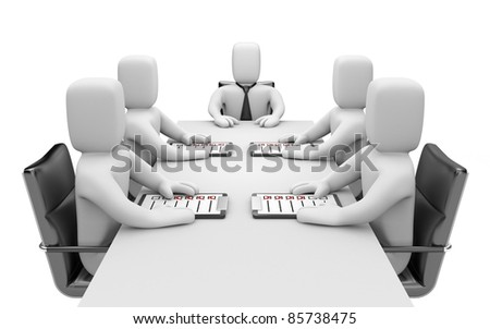 Meeting. Image contain clipping path - stock photo