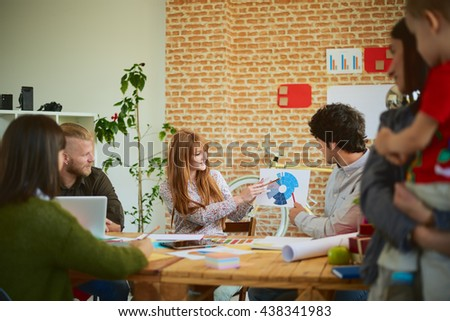 Meeting In Architects Office. Teamwork concept.  - stock photo