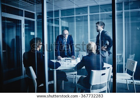 Meeting in office - stock photo
