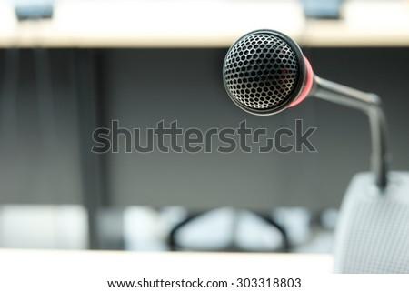 meeting microphone - stock photo