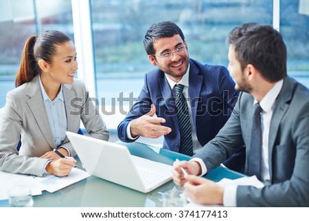 Meeting of colleagues - stock photo