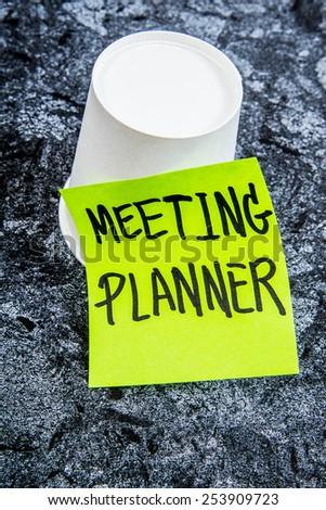 meeting planner - stock photo