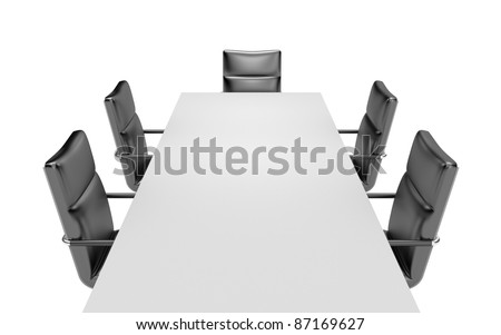 Meeting room. Image contain clipping path - stock photo